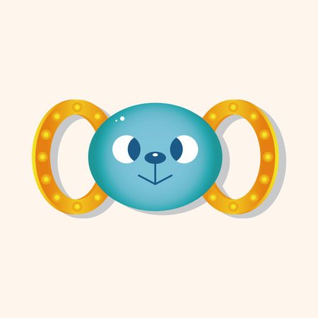 baby toy: baby toy rattle theme elements