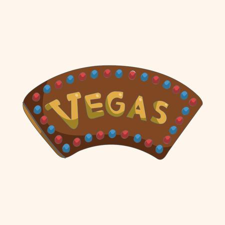 las vegas lights: casino sign theme elements Illustration