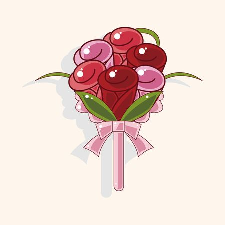 bouquet  flowers: flower bouquet theme elements