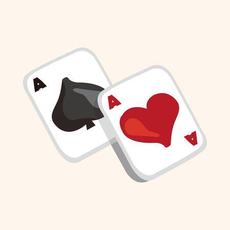 poker card: casino poker card theme elements
