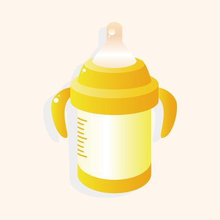 bottle feeding: Feeding bottle theme elements