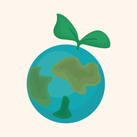 protect concept: Environmental protection concept theme elements; Protect our environment, protect our planet Illustration