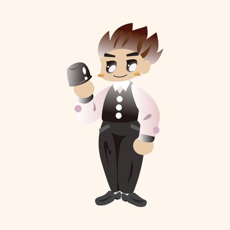 dealer: casino game dealer theme elements