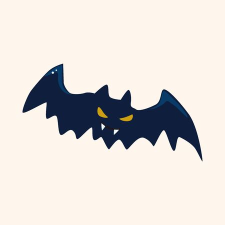 halloween bat: Halloween bat theme elements Illustration