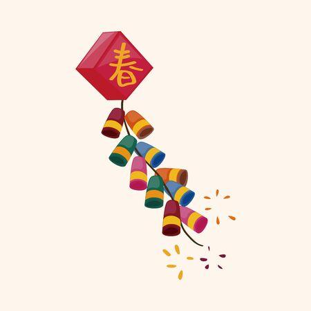 Chinese firecrackers theme elements Stock Illustratie