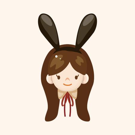 playboy: casino playboy bunny thema elementen Stock Illustratie