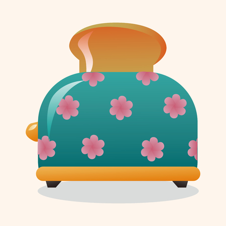 bread maker: Home appliances theme toaster elements Illustration