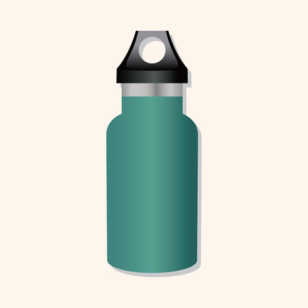 thermo: camping water bottle theme elements