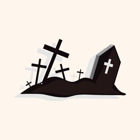 grave theme elements Illustration