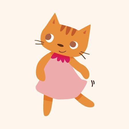 animal cat cartoon theme elements Vector