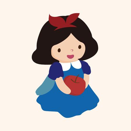 fairytale princess theme elements Stock Illustratie