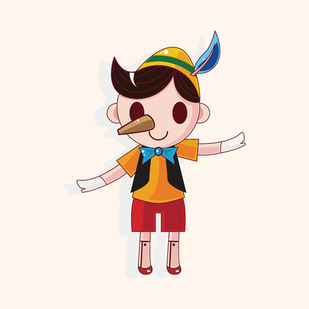 Pinocchio theme elements Vector