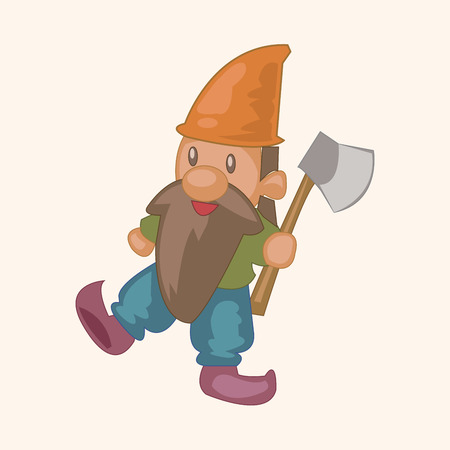 Dwarfs theme elements Vector