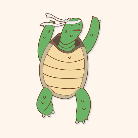 Tortoise and the Hare theme elements Vector