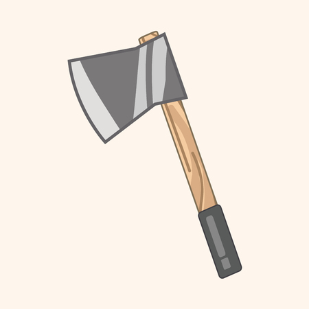 work tool: work tool axe theme elements Illustration