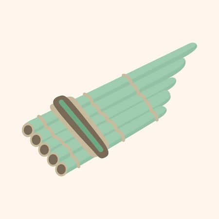 flute instrument: instrument flute cartoon theme elements