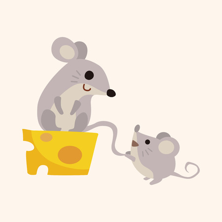animal mouse cartoon theme elements Иллюстрация