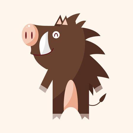 animal in wild: animal wild pig cartoon theme elements