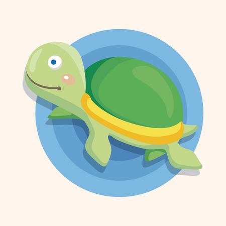 sea animal: sea animal turtle cartoon theme elements