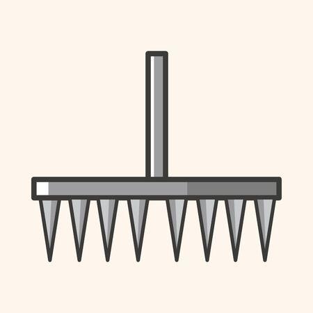 hand trowel: gardening shovel theme elements Illustration