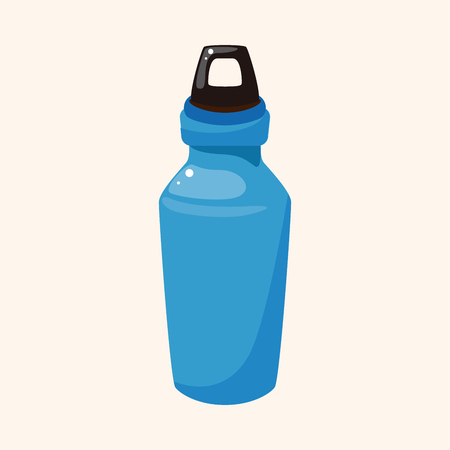 water theme: Travel equipment water bottle theme elements