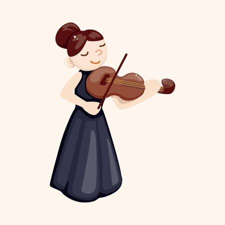 violinista: Elementos del tema de car�cter m�sico violinista