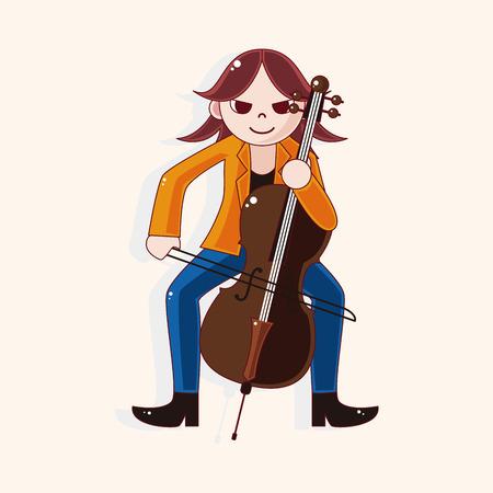 cellist: character musician cellist theme elements