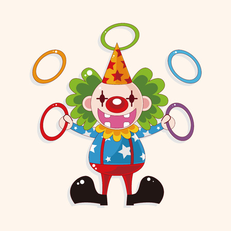 payaso: elementos del tema del payaso de circo