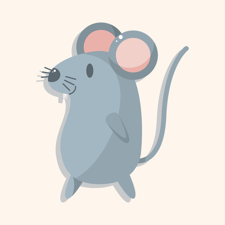 animal mouse cartoon theme elements Vectores