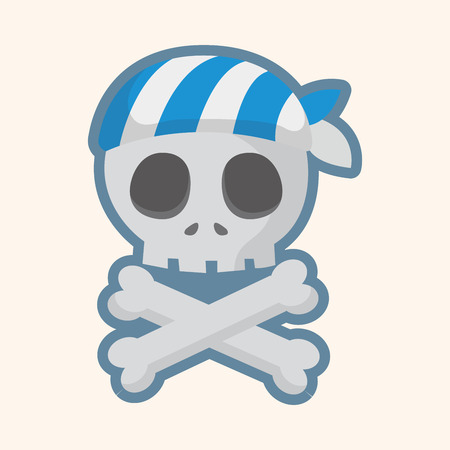 bandana: pirate skull theme elements