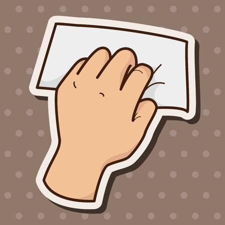 hand holding paper: mano carta tiene elementi tematici vettoriale, eps