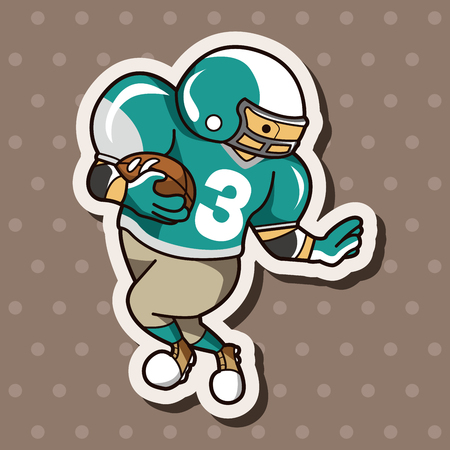 touchdown: football player theme elements vector,eps Illustration