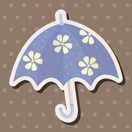fall protection: Umbrella theme elemets vector,eps