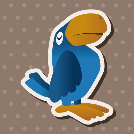 parrot tail: Animal parrot flat icon elements,  Illustration