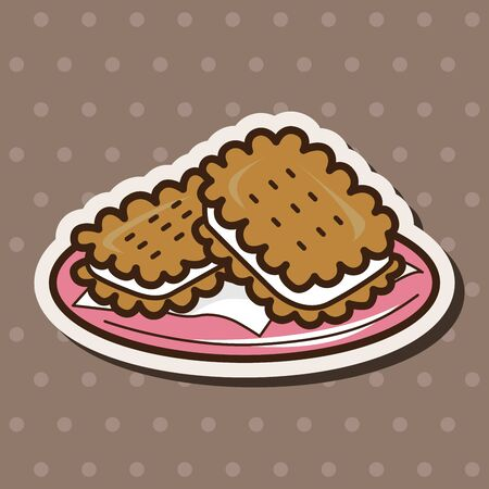 fortune cookie: cookies theme elements vector,eps