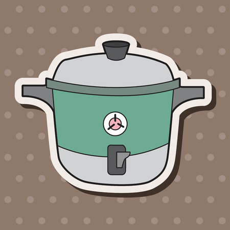 rice cooker: kitchenware rice cooker theme elements vector,eps