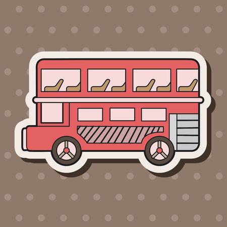 Double-decker bus theme elements vector,eps Vector