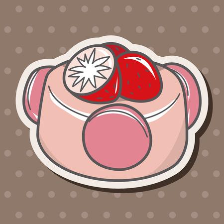 decorating cake flat icon elements background,eps10 Vector
