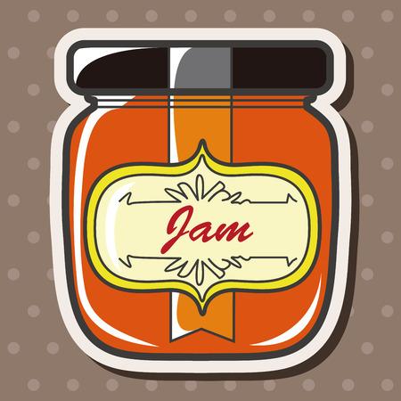 marmalade: jam theme elements vector,eps Illustration