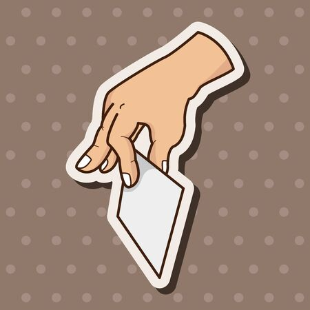 hand holding paper: