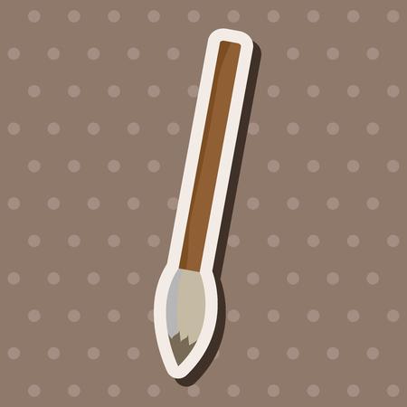 painting brush: work tool painting brush theme elements vector,eps
