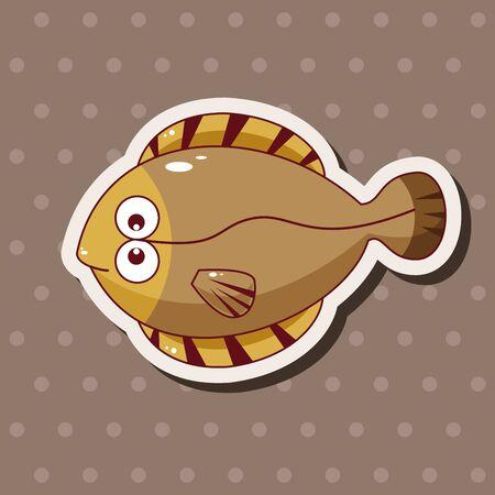 peces caricatura: dibujos animados peces elementos temáticos, eps