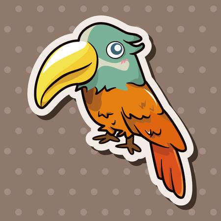 bird cartoon theme elements vector,eps