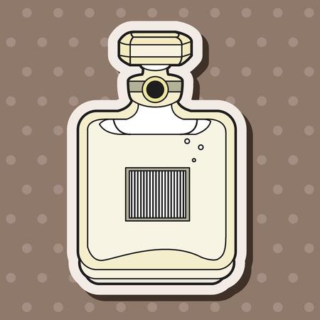 france perfume: france perfume theme elements vector,eps Illustration