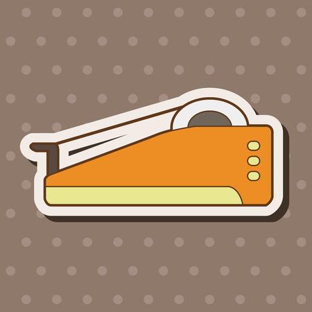dispenser: stationary tape dispenser theme elements vector,eps