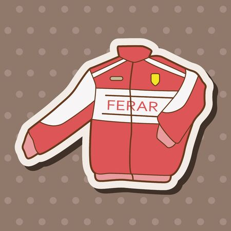 checker flag: racing coat theme elements vector,eps Illustration