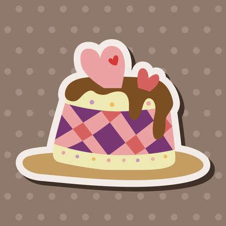 decorating: decorating cake theme elements vector,