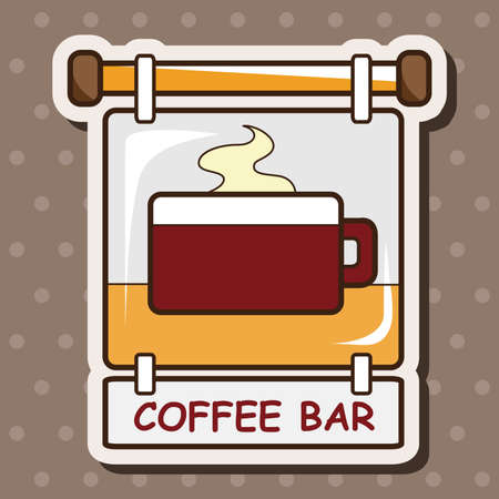 coffee shop: Coffee shop signs theme elements vector,eps Illustration