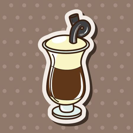 iced: iced drink theme elements vector,eps