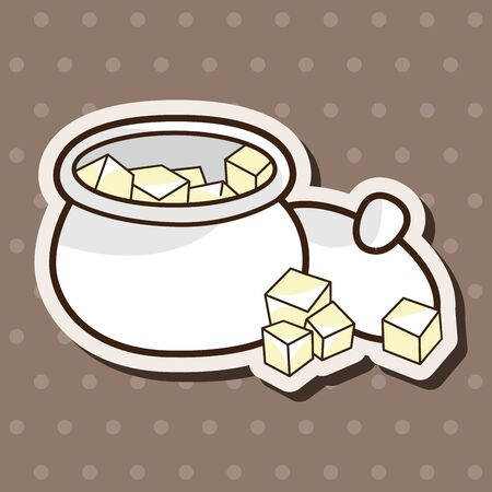 sweetener: Sugar cubes theme elements vector,eps